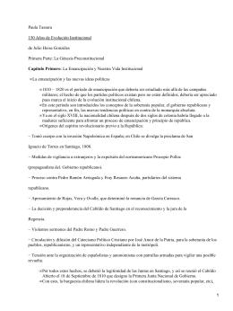 150 Años de Evolución Institucional; Julio Heise
