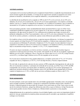 Actividad económica e industria de Euskadi