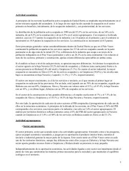 Actividad económica en el País Vasco