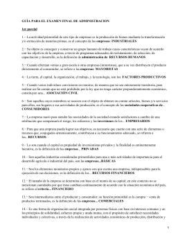 GUÍA PARA EL EXAMEN FINAL DE ADMINISTRACION 1er parcial