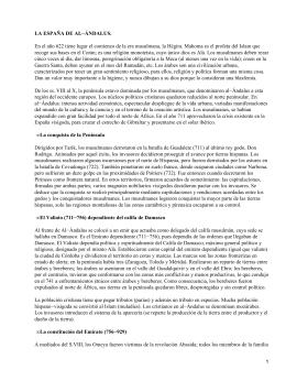 LA ESPAÑA DE AL−ÁNDALUS.