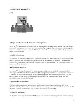 ALGORITMOS: Introducción p@ul Etapas en la Resolución de Problemas por Computador •