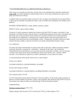 1)ACTIVIDADES PREVIAS A LA PROYECCION DE LA PELÍCULA