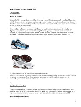 Análisis de mix márketing de marca de calzado deportivo