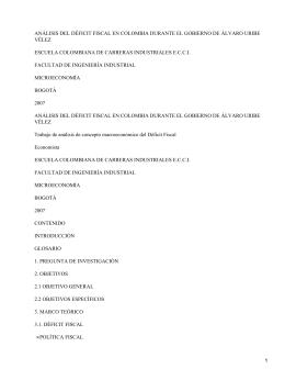 Análisis Económico del Gobierno de Uribe