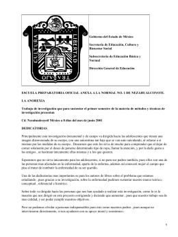Gobierno del Estado de México Secretaría de Educación, Cultura y Bienestar Social