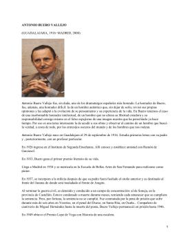 ANTONIO BUERO VALLEJO A (GUADALAJARA, 1916−MADRID, 2000)