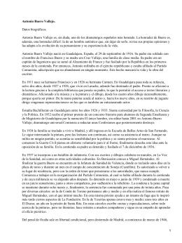 Antonio Buero Vallejo. Datos biográficos.