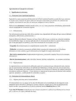 Aproximación al concepto de Estructura; F. Ripoll