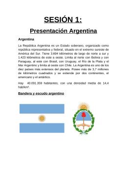 SESIÓN 1: Presentación Argentina  Argentina