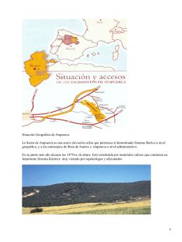 Situación Geográfica de Atapuerca