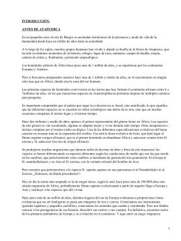 INTRODUCCIÓN: ANTES DE ATAPUERCA