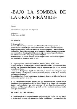 Bajo la sombra de la gran pirámide; Pablo Zapata