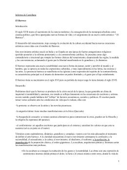 Informe de Castellano Introducción El Barroco
