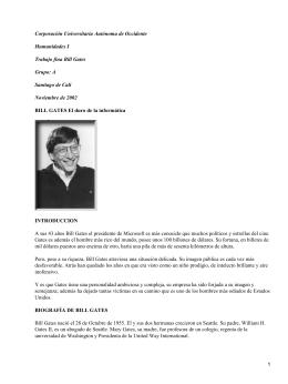 Corporación Universitaria Autónoma de Occidente Humanidades I Trabajo fina Bill Gates Grupo: A