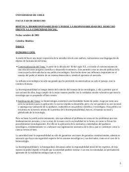 UNIVERSIDAD DE CHILE FACULTAD DE DERECHO