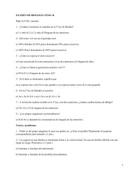 EXAMEN DE BIOLOGÍA 4ºESO−B Test.