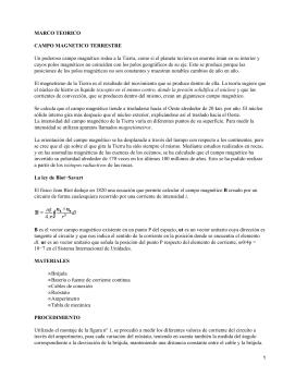 MARCO TEORICO CAMPO MAGNETICO TERRESTRE
