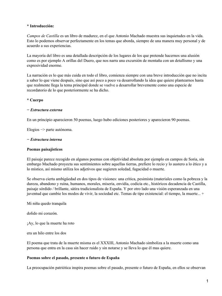 Introducción Campos De Castilla