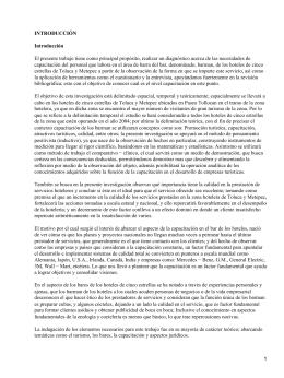 Capacitación de los barman de los hoteles en Toluca y Metepec