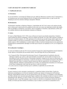 Carta a Rubicone Nabruzzi; Bakunin