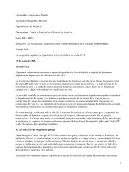 Causas de la emigración gallega