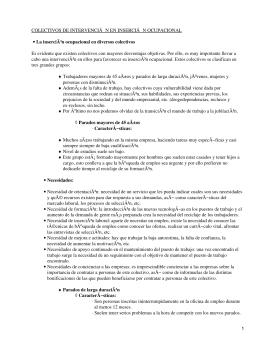 Colectivos de intervención en inserción ocupacional