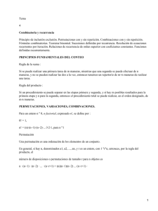 Combinatoria y recurrencia