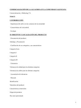 Comercialización de la alcachofa en la Comunidad Valenciana