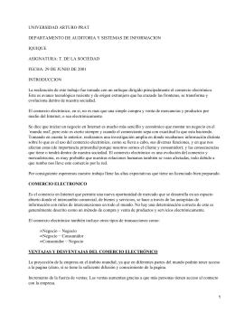 UNIVERSIDAD ARTURO PRAT DEPARTAMENTO DE AUDITORIA Y SISTEMAS DE INFORMACION IQUIQUE