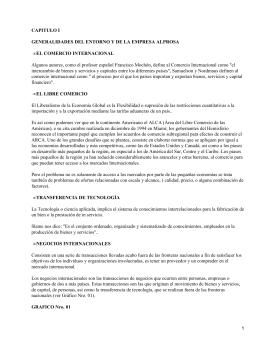 CAPITULO I GENERALIDADES DEL ENTORNO Y DE LA EMPRESA ALPROSA •