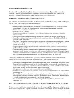 Conductores y legislación sobre el transporte público en Chile
