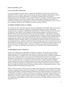 Conflicto entre EEUU (Estados Unidos) y México