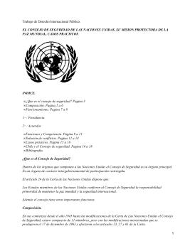 Consejo de Seguridad de la ONU (Organización de las Naciones Unidas)
