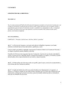 Constitución de la provincia argentina de Catamarca (Argentina)
