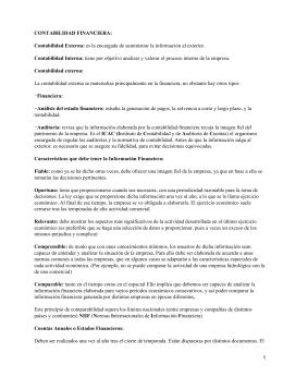 CONTABILIDAD FINANCIERA: Contabilidad Externa: Contabilidad Interna: Contabilidad externa: