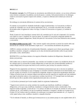 BOLILLA 1 El contrato: concepto.