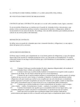 1 EL CONTRATO COMO NORMA JURÍDICA Y LA DECLARACIÓN UNILATERAL