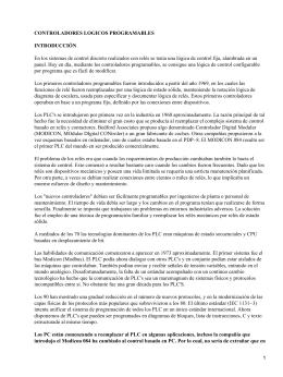 CONTROLADORES LOGICOS PROGRAMABLES INTRODUCCIÓN