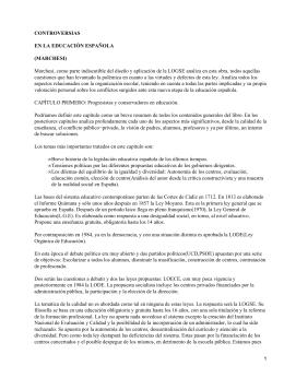 Controversias en la educación española; Álvaro Marchesi