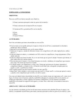 Cuaderno de campo Expresión corporal II