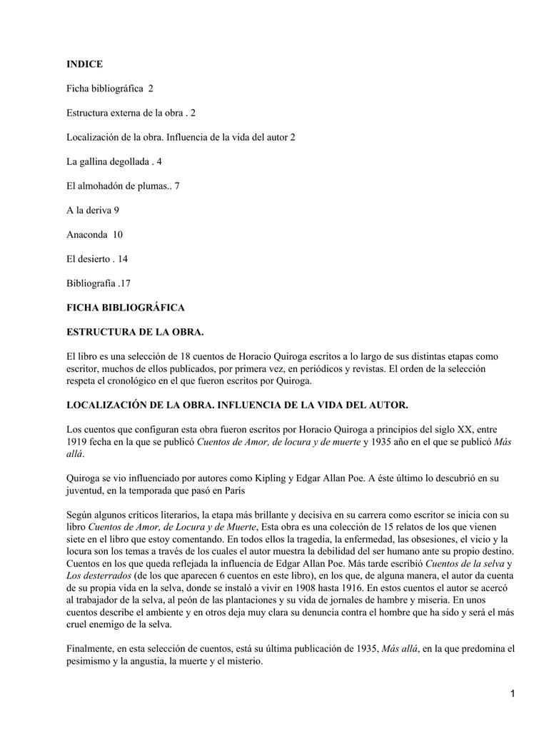 Indice Ficha Bibliográfica 2 Estructura Externa De La Obra 2