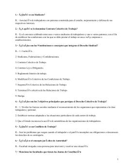 Cuestionario de Legislación Laboral