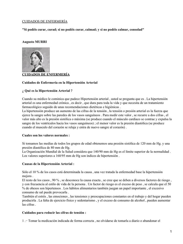 CUIDADOS DE ENFERMERÍA Augusto MURRI