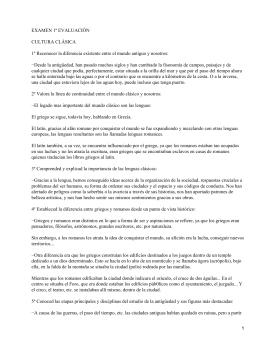 EXAMEN 1ª EVALUACIÓN CULTURA CLÁSICA