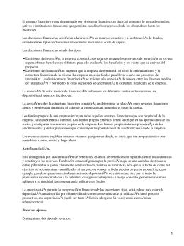 Decisisones financieras en la empresa