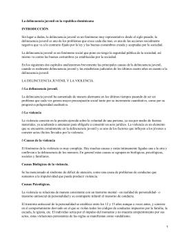 Delincuencia Juvenil en la Republica Dominicana