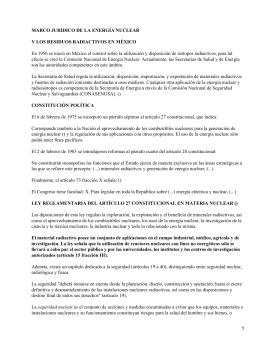 MARCO JURÍDICO DE LA ENERGÍA NUCLEAR
