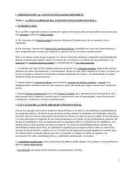 I. APROXIMACIÓN AL CONSTITUCIONALISMO HISTÓRICO.