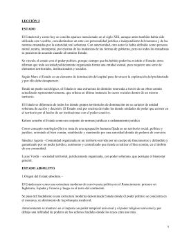 LECCIÓN 2 ESTADO